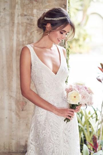 The Romantic & Sparkling Anna Campbell Wanderlust Wedding Dress Collection | Jamie Dress (Empress Lace Skirt)-2