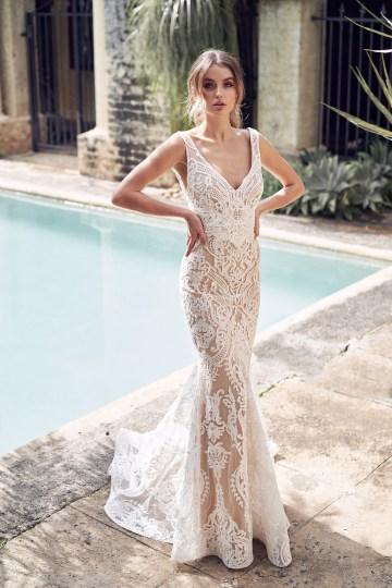 The Romantic & Sparkling Anna Campbell Wanderlust Wedding Dress Collection | Jamie Dress (Trumpet Skirt)-1