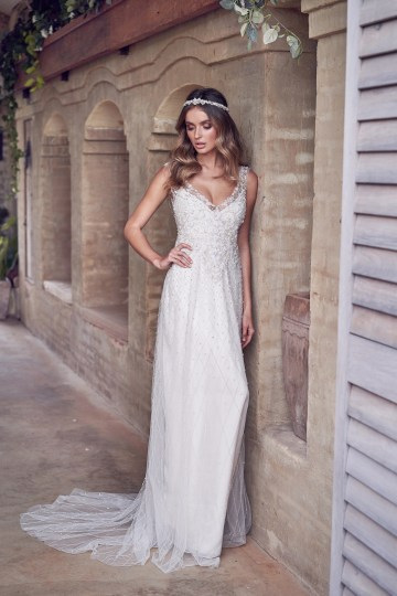 The Romantic & Sparkling Anna Campbell Wanderlust Wedding Dress Collection | Paige Dress (Embellished)-1