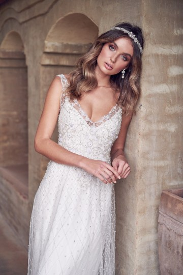 The Romantic & Sparkling Anna Campbell Wanderlust Wedding Dress Collection | Paige Dress (Embellished)-2