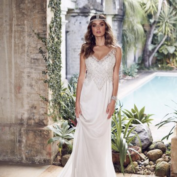 The Romantic & Sparkling Anna Campbell Wanderlust Wedding Dress Collection | Paige Dress (Slimline Chiffon Skirt)-1