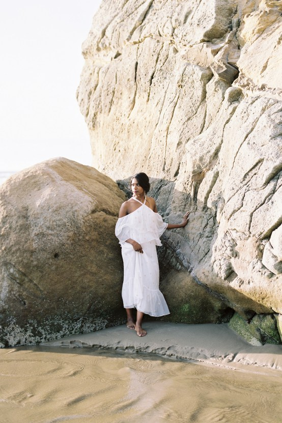 Artistic Burgundy & Fig Beach Wedding Inspiration | Rosencrown Photography 27