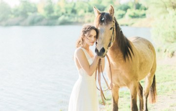 Goddess Bridal Inspiration With Lilacs & Horses