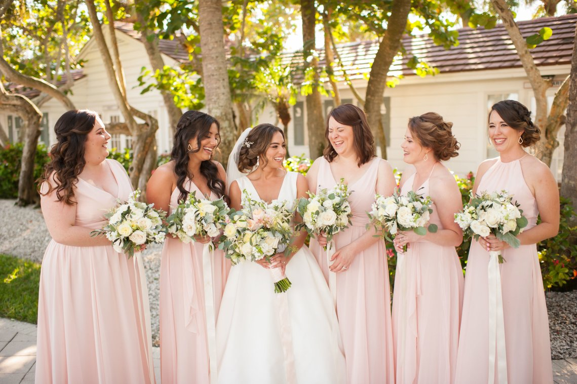 Elegant Pretty Pink Beach Wedding | Stephanie Smith 6