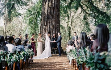 Enchanting Redwood Forest Wedding (With The Cutest Dog Decor Ideas)