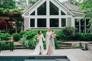 High Style; Luxurious Weed Wedding Ideas | Claire Eliza | High Herstory | Sarah Seven 3