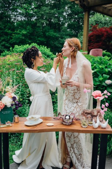 High Style; Luxurious Weed Wedding Ideas | Claire Eliza | High Herstory | Sarah Seven 55