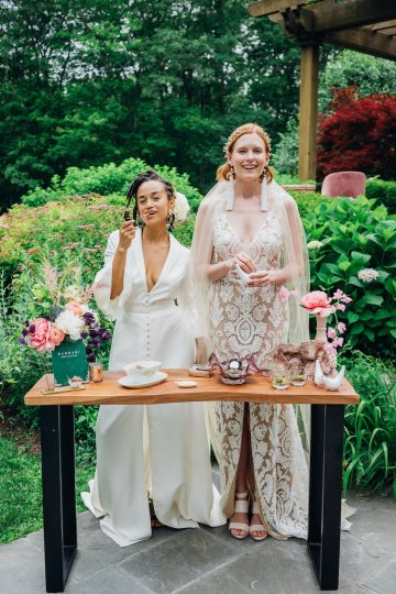 High Style; Luxurious Weed Wedding Ideas | Claire Eliza | High Herstory | Sarah Seven 57