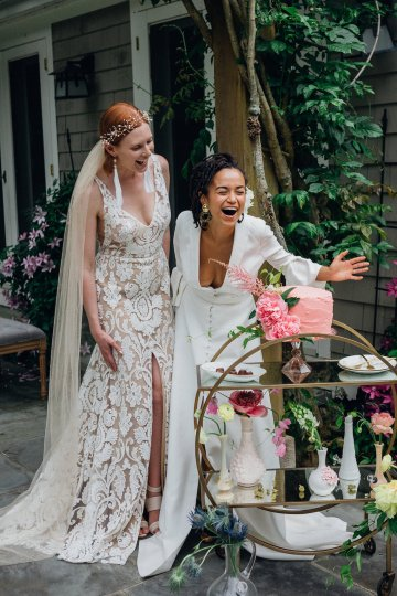 High Style; Luxurious Weed Wedding Ideas | Claire Eliza | High Herstory | Sarah Seven 81