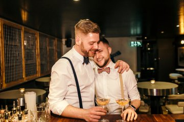 Industrial Copper Cocktail Bar Groom Inspiration | Joasis Photography | ByChenai 17