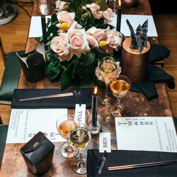 Industrial Copper Cocktail Bar Groom Inspiration | Joasis Photography | ByChenai 36