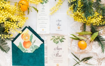 Tangerine & Turquoise; Portugal Winery Wedding Inspiration