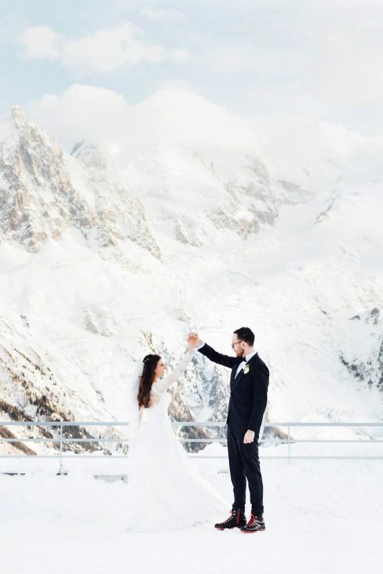Charming Chamonix Winter Wedding With A Fur Coat – Katie Mitchell 20