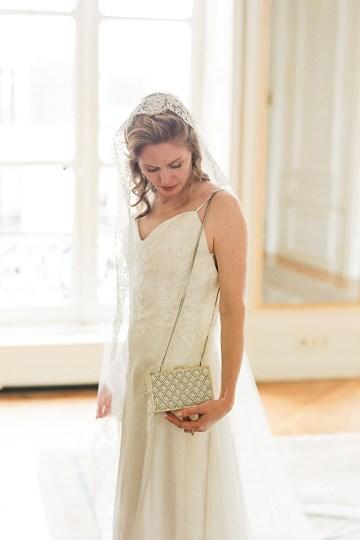 Elegant Blush Parisian Bridal Inspiration Featuring Luxurious Veils and Boudoir Ideas – Bonphotoge 38