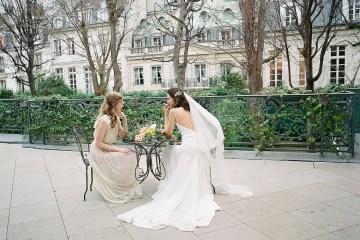 Elegant Blush Parisian Bridal Inspiration Featuring Luxurious Veils and Boudoir Ideas – Bonphotoge 52