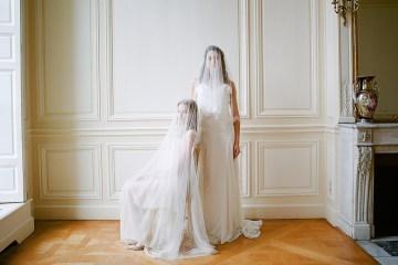 Elegant Blush Parisian Bridal Inspiration Featuring Luxurious Veils and Boudoir Ideas – Bonphotoge 53