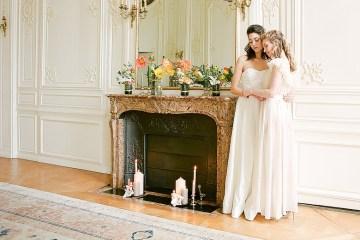 Elegant Blush Parisian Bridal Inspiration Featuring Luxurious Veils and Boudoir Ideas – Bonphotoge 58