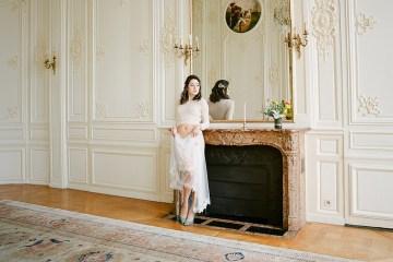 Elegant Blush Parisian Bridal Inspiration Featuring Luxurious Veils and Boudoir Ideas – Bonphotoge 62