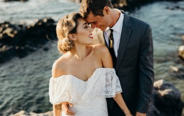 Glamorous & Tropical Hawaiian Wedding Inspiration