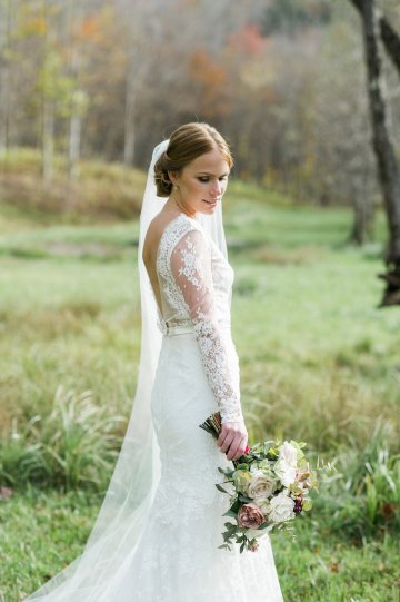 Warm Fall Catskills Wedding With Ceremony Sparklers – Christina Lilly Photography – Buds of Brooklyn 34
