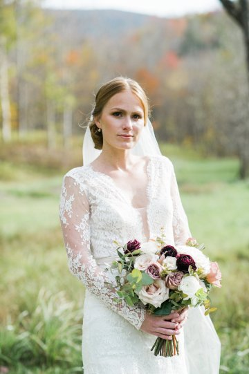 Warm Fall Catskills Wedding With Ceremony Sparklers – Christina Lilly Photography – Buds of Brooklyn 35