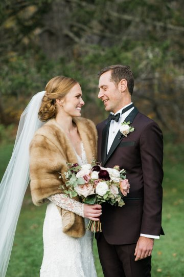 Warm Fall Catskills Wedding With Ceremony Sparklers – Christina Lilly Photography – Buds of Brooklyn 46