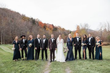 Warm Fall Catskills Wedding With Ceremony Sparklers – Christina Lilly Photography – Buds of Brooklyn 7