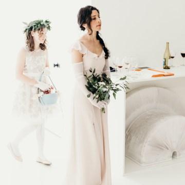 All-White Portland Photo Studio Wedding – Davis Hilton 27