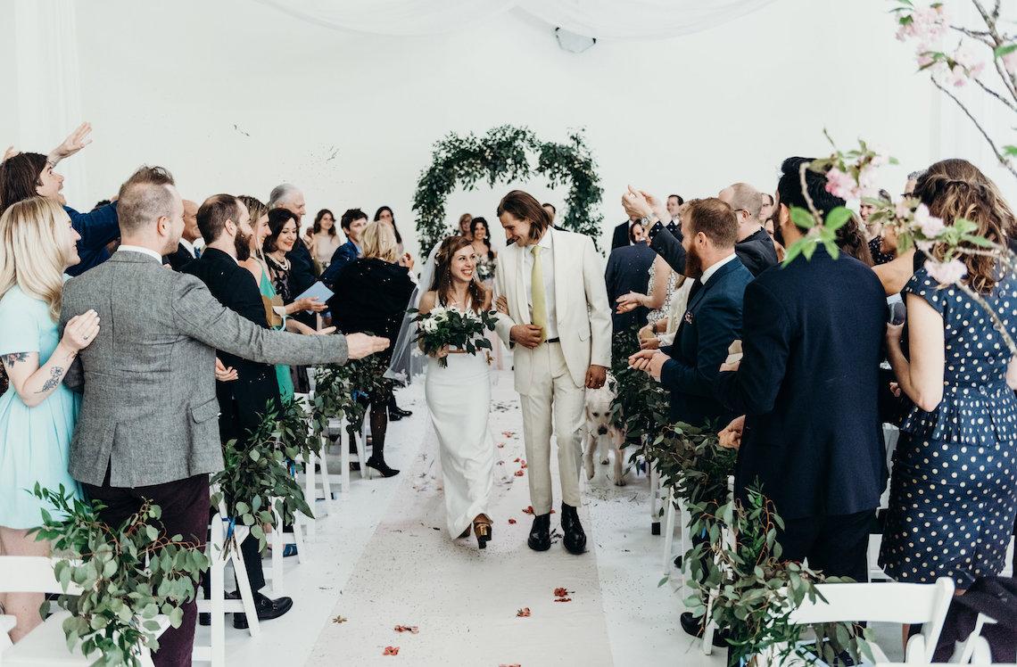 All-White Portland Photo Studio Wedding – Davis Hilton 56