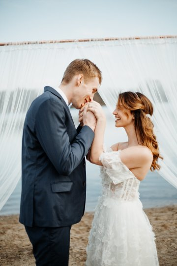 Beach Boho Wedding Inspiration With Agate Ideas – Stefanie Lange 24