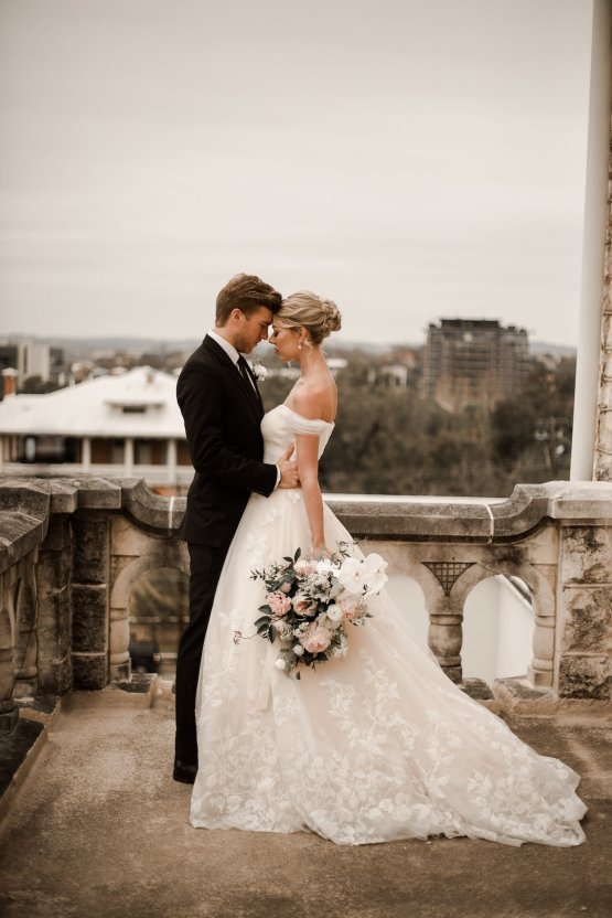 Champagne & Pink Chateau Wedding Inspiration In Texas – Wild Love Photography 15