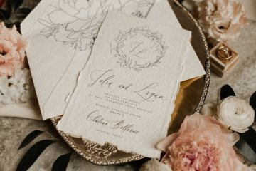 Champagne & Pink Chateau Wedding Inspiration In Texas – Wild Love Photography 6