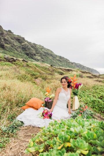 Colorful Hawaiian Boho Wedding Inspiration – Chelsea Stratso Photography 22