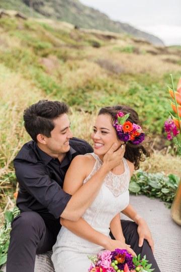 Colorful Hawaiian Boho Wedding Inspiration – Chelsea Stratso Photography 29