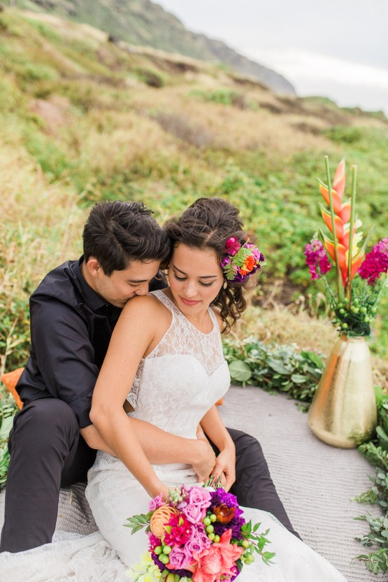 Colorful Hawaiian Boho Wedding Inspiration – Chelsea Stratso Photography 30