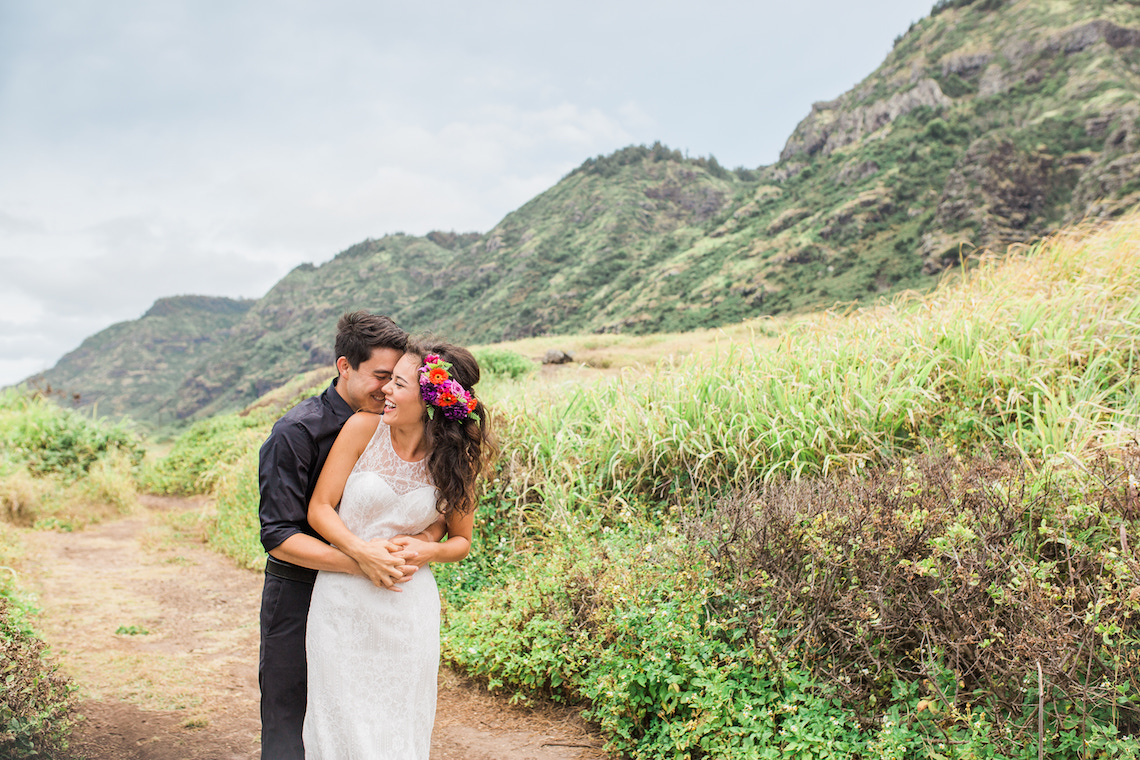 Colorful Hawaiian Boho Wedding Inspiration – Chelsea Stratso Photography 5