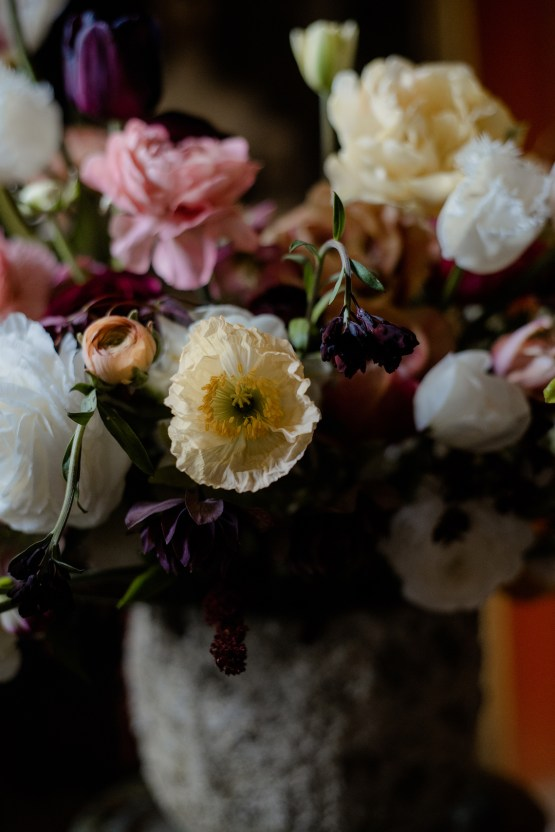 Dramatic Bridesmaid Inspiration With Fall Florals and A Black Jumpsuit – Georgina Harrison Photography 17