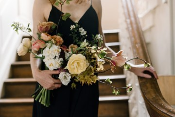 Dramatic Bridesmaid Inspiration With Fall Florals and A Black Jumpsuit – Georgina Harrison Photography 3