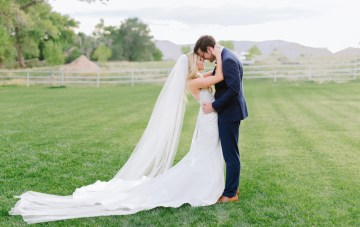 Glamorous Emerald, Sapphire & Peach Countryside Wedding