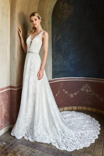 10 Stunning Wedding Dresses By Destination – Val Stefani Cyprus Dress 1