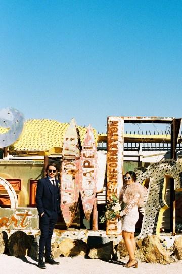 Hip and Colorful Las Vegas Neon Museum Wedding – Kristen Kay Photography 12