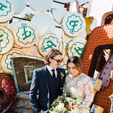 Hip and Colorful Las Vegas Neon Museum Wedding – Kristen Kay Photography 36