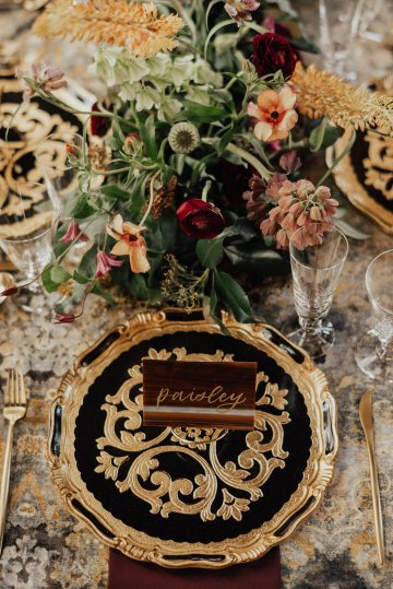 Luxe Mansion Wedding Inspiration Featuring Masculine Florals and Deep Tones – Alex Tenser – Swoon Soiree 18