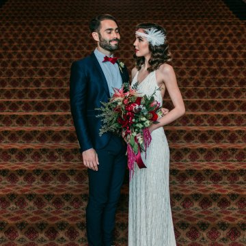 The Great Gatsby Art Deco Wedding Inspiration With Tropical Florals – Holly Castillo Photography 35
