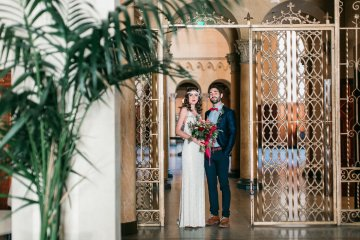 The Great Gatsby Art Deco Wedding Inspiration With Tropical Florals – Holly Castillo Photography 8