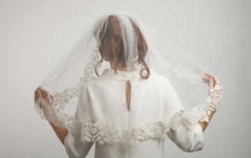 20 Unique Wedding Veils – Ann-Marie Faulkner Designer Trim Veil 3