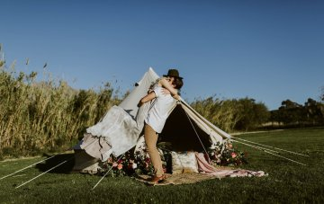 Boho Glamping Wedding (& Proposal) Inspiration