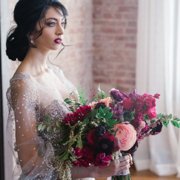 Whimsical Crimson and Green Holiday Wedding Inspiration – Stacy Able Photography 16