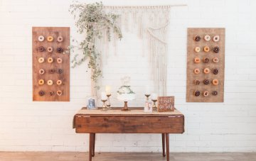 A Gifted Boho Wedding With Macrame Details & A Donut Wall