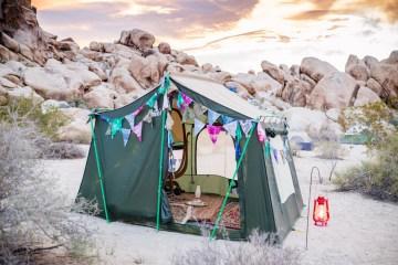 Amazing Vintage Joshua Tree Camping Wedding – Someplace Images 1